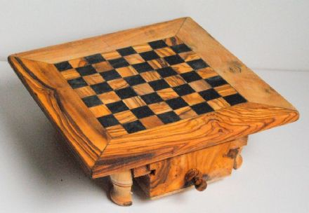 Olive Wood Chess Table Square